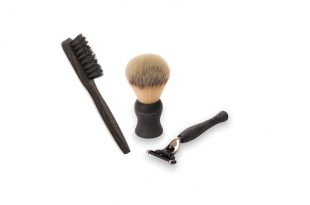 ACCA_KAPPA_SHAVING SET NATURAL STYLE WITH SYNTHETIC FIBRES - RASIERSET