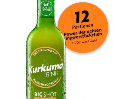 Kurkuma Trink mit Ingwerstückchen